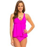 Athena Swimwear Cabana Solids Drape Tankini Top
