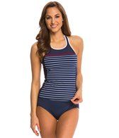Nautica Classic Stripe High Neck Tankini Top