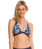 Nautica Swimwear Pacific Floral Soft Cup Sports Bra Bikini Top