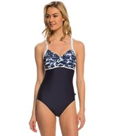 Nautica Swimwear Pacific Floral Soft Cup One Piece Swimsuit