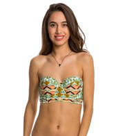 Volcom Swimwear Native Drift Uwire Bandeau Bustier Bikini Top