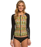 Volcom Swimwear Native Drift L/S Zip Rashguard