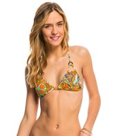 Volcom Faded Flowers Triangle Bikini Top