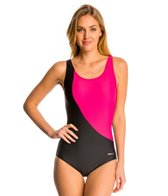 Sporti Conservative Colorblock Swimsuit