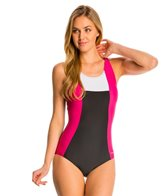 Sporti Moderate Colorblock Swimsuit