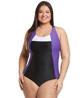 Sporti Plus Moderate Colorblock Swimsuit