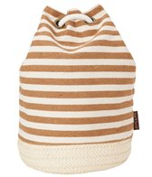 Sun N Sand Women's Straw and Fabric Salt Cay Drawstring Backpack