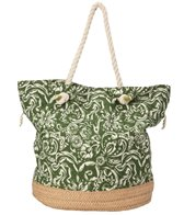 Sun N Sand Women's Straw and Fabric Watercress Tote Bag