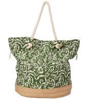 Sun N Sand Women's Straw and Fabric Watercress Tote Bag