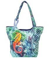 Sun N Sand Women's Seahorse Garden Scoop Tote Bag