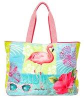 Sun N Sand Women's Tropical Paradise Oversized Tote Bag