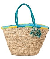Sun N Sand Women's Natural and Paper Straw Pismo Point Shoulder Tote Bag