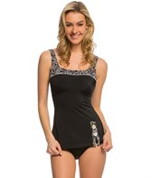 Fit4U Swimwear Cabana Retro Sheath Swim Dress