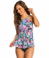 Fit4U Swimwear Origami Micro Hi Neck Flared Tankini Top