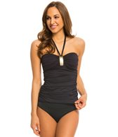 BLEU Rod Beattie Gilt Trip Solid Halter Bandeau Tankini Top