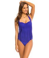 BLEU Rod Beattie Sea It Through Fly Away Bandeau One Piece Swimsuit