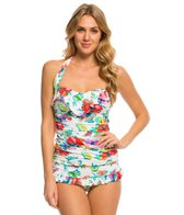 BLEU Rod Beattie Fresh Start Ruffle Bandeau Tankini Top