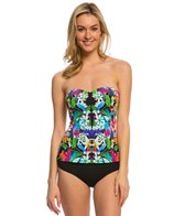 BLEU Rod Beattie Lush Life Bandeau Tankini Top