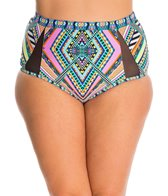 Jessica Simpson Plus Swimwear Plus Size Venice Beach High Waist Bikini Bottom