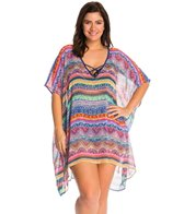 Jessica Simpson Plus Swimwear Plus Size Bali Breeze Chiffon Cover Up Tunic