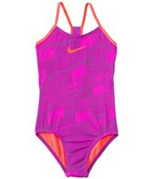Nike Swimwear Girls' Nike Print Racerback Tank One Piece Swimsuit (7yrs-14yrs)
