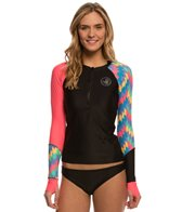 Body Glove Breathe Cha Cha Sleek Long Sleeve Front Zip Rash Guard
