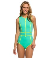 Body Glove Breathe Forecast Reminisce Front Zip One Piece Swimsuit