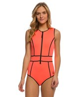 Body Glove Forecast Reminisce Front Zip One Piece Swimsuit