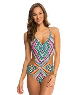 Jessica Simpson Swimwear Venice Beach Cut Out One Piece Swimsuit