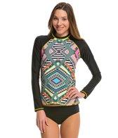 Jessica Simpson Swimwear Venice Beach L/S Rashguard Top