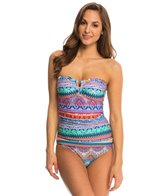 Jessica Simpson Swimwear Bali Breeze Bandeau Swimdress