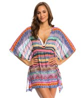 Jessica Simpson Swimwear Bali Breeze Open Back Chiffon Cover Up