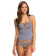 Jessica Simpson Swimwear Sweet Sailor Underwire Halter Tankini Top