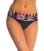 Jessica Simpson Swimwear It Girl Shirred Fold Over Hipster Bikini Bottom