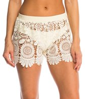 Jessica Simpson Swimwear Flower Power Lace Cover Up Short