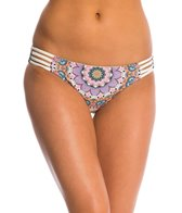 Red Carter Montezuma Reversible Side Strappy Hipster Bikini Bottom