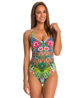 Red Carter Shangri La ZigZag Waist Cut Out One Piece Swimsuit