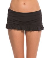 Coco Rave Swimwear Zodiac Dreams Solid Mia Ruffle Skirted Bikini Bottom