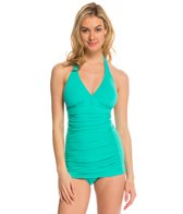 Coco Rave Swimwear Zodiac Dreams Solid Kendall Halter Swimdress (C/D/DD Cup)