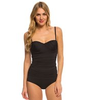 Coco Rave Swimwear Zodiac Dreams Solid Demi Tankini Top (C/D/DD Cup)