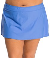 Athena Plus Size Cabana Solid Banded Skirted Bottom