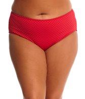 Gottex Plus Size Diamond in the Rough High Leg High Waist Bikini Bottom