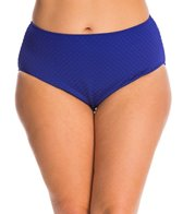 Gottex Plus Size Diamond in the Rough High Leg High Waist Bikini Bottom