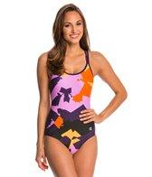 Champion Women's Sea Basketweave Lingerie Tank One Piece Swimsuit