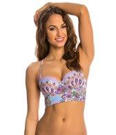 Profile Blush Avante Garden Underwire Bustier Bikini Top (D/E/F Cup)