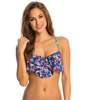 Profile Blush Hummingbird Underwire Flounce Bikini Top (D/E/F Cup)