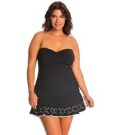Profile by Gottex Plus Size Enchantment Bandeau Swim Dress