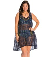 Profile by Gottex Plus Size Tutti Frutti Crochet Cover Up Dress