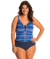 Profile by Gottex Plus Size Blue Lagoon One Piece Swimsuit