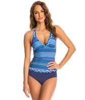 Profile by Gottex Blue Lagoon Halter Tankini Top
